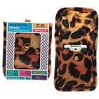 Animal Print Leopard Tiger Face Covering & Hand Sanitizer Pouch Gift Set